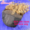 Парик шнурка бразильских человеческих волос полный с Silk верхней частью