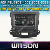 Peugeot 4007のためのWitson Car DVD 2007-2012年のCar DVD GPS 1080P DSP Capactive Screen WiFi 3G Front DVR Camera