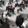 Vávula de bola montada muñón eléctrico compacto del actuador del PVC
