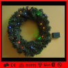 Luz al aire libre de la decoración LED de la guirnalda artificial de la Navidad de China