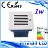 Indicatore luminoso esterno di punto dell'angolo LED della scala di vendita AC85-265V IP65 1W della fabbrica