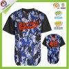 Jersey blanc bon marché de base-ball du Jersey de base-ball de Camo de polyester de maille de la sublimation 100%