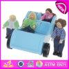 Carro de brinquedo de madeira novo e popular para crianças, brinquedo de brinquedo para brinquedos para crianças, jogo de boneca e carrinho para bebê W04A084