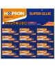 colla eccellente del tubo di alluminio 12PCS/Card (HCA-012)