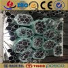 6061 1060 tubos de aluminio/el aluminio de la pared fina de plata del final sacaron tubo