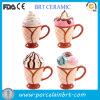Tazza all'ingrosso di ceramica decorativa attraente del gelato dei regali
