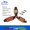 Car Canbus Error Free Festoon 12V 24V 3014 10SMD LED Dome License Plate Estacionamento LED Light Bulb