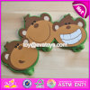 Nouveau design Cartoon Monkey Children Crochets de porte en bois W09b072