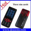 Téléphone portable de carte de trois SIM avec la lumière de torche (H999)