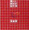 El color rojo mosaico de vidrio 4 mm de espesor (CFC168)