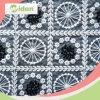 Индийская ткань Organza вышивки шнурка с украшением цветка