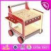 2015 Rot Color Wooden Tool Walker, Kid Wooden Tool Cart Toy, Children Learn zu Walk Easy Carrier Holding Blocks Pop oben Toy W03D058