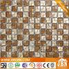 Premendo geometrica Golden Plate fusione Mosaico di vetro (H623003)