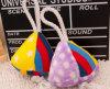Nuevos juguetes del animal doméstico de la felpa del triángulo del azúcar del diseño