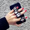 Antideslizante caso de teléfono de silicona Anillo Diomand para el iPhone 5/6 / 6plus