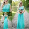 Blauer Partei-Abschlussball kleidet Sleeveless Boots-Brautjunfer-Abend-Kleid B703