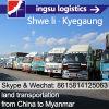 Fret de transport de logistique de Shwe Li et de route de Shwe Li