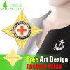 Vender a segurança da estrela fixa o emblema do ouro do floco de neve do chapeamento de New York