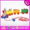Линия тяги игрушка 2015 воспитательных малышей деревянная, линия тяги игрушка смешных детей игры деревянная, горячая линия тяги поезд младенца сбывания Toys W05b088