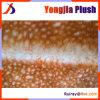 Tissu tricoté de trame ordinaire de fourrure de Faux de textile estampé par peau de daim