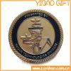 Монетка металла высокого качества с краем веревочки (YB-c-054)