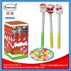 De plastic Staaf die van de Kerstman Muzikaal Stuk speelgoed met Suikergoed aansteken