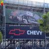 Bandera al aire libre del vinilo de la flexión del PVC de la impresión de Digitaces, bandera de encargo de la exhibición del acoplamiento