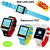 Het waterdichte Volwassen GPS van de Veiligheid Horloge van de Drijver met de Monitor van het Tarief van het Hart Y3h