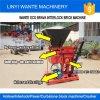 Máquinas Wante Wt1-25 Tipo Manual Eco Brava Intertravamento máquina para fabricação de tijolos de barro