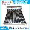 Calefator de água solar não integrado do aço inoxidável da pressão