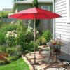 Parapluie en bois spécial de parasol de couleur rouge