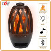 Warme Licht van de Trilling van de Atmosfeer van Bluetooth Speaker&Torch van de LEIDENE Lamp van de Vlam het Draagbare