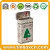 パッキングキャンデーのお菓子屋のギフトのための習慣によって蝶番を付けられるクリスマスのミントの錫