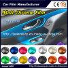 Venta caliente de hielo de cromo mate cromo auto adhesivo de vinilo de envoltura de Coche 152cm*50cm/1m/28M.