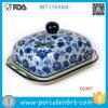 Piatto di burro di ceramica decorativo della cucina del fiore viola