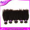 Weave Curly Kinky preto natural curto brasileiro Kinky 8  - 28  do cabelo humano da onda do Afro do cabelo 3PCS do Virgin Remy do Afro brasileiro de 7A
