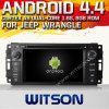 Carro DVD do Android 4.4 de Witson para o Wrangler do jipe com A9 sustentação do Internet DVR da ROM WiFi 3G do chipset 1080P 8g