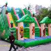 Grünes Waldthema-aufblasbare Plättchen für das Bekanntmachen und Spiel der Kinder