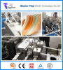 플라스틱 기계장치 PVC 두 배 나사 압출기 가장자리 밴딩 단면도 생산 라인