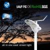 Lampada solare del giardino dell'indicatore luminoso di via di alta configurazione di Bluesmart LED con il comitato solare registrabile