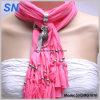 Animal bordée de bijoux de la poignée de femmes foulard (SNSMQ1010)