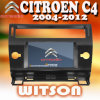Citroen C4 2004-2012년 (W2-D9956CI)를 위한 GPS를 가진 Witson 차 DVD 플레이어