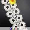 garniture de lacet de coton de broderie du Cutwork Olt202 de 7cm pour la robe occasionnelle de dames