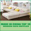 現代木のホーム家具の居間の革L形のソファー