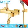 Design de ouro de banho de luxo com chuveiro e banheira batedeira (BM-30114G)