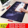 900X400 große Worldmap Spiel-Mausunterlage, die Rand-rutschfeste Computer-Spieler-Tastatur-Tisch-Matte für Spieler sperrt