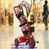 Triciclo plegable del bebé del regalo de los cabritos de la rueda barata al por mayor del juguete 3 con el pabellón