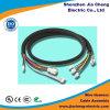 Asamblea de cable al aire libre impermeable del conector masculino LED de 100 Pin