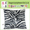 Zebra Print Decorative Pillow in Black