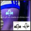 Incandescenza nell'autoadesivo del tatuaggio dell'ente scuro con il disegno personalizzato